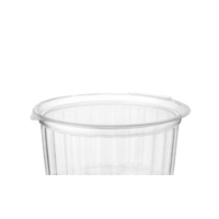 341ml (12oz) Clear Food Bowls with hinged flat lid - sleeve of 25