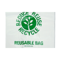 Large Reusable plastic Carry Bags  - 50/Pack