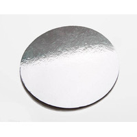 "14"" Silver Plain Double Standard Cake Board Round-Each"