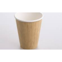 8 Oz Earth-Pak Double wall Compostable Kraft cup -Sleeve 25