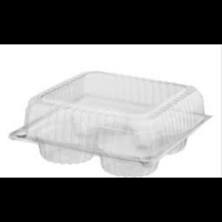 Muffin 4 Pack Clear Container - Sleeve of 100
